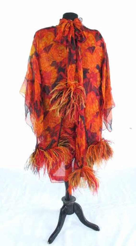 Bob Bugnand Chiffon Dress with Shawl Vintage Bob - 6