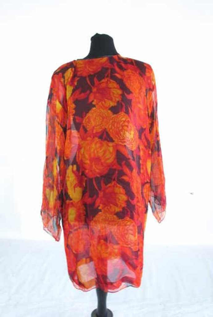 Bob Bugnand Chiffon Dress with Shawl Vintage Bob - 8