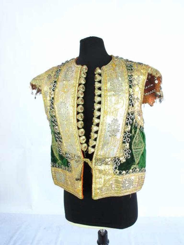 Embellished Vest Custom made vest having velvet and