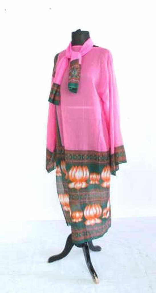 Bob Bugnand South Asian Style Dress and Scarf Bob