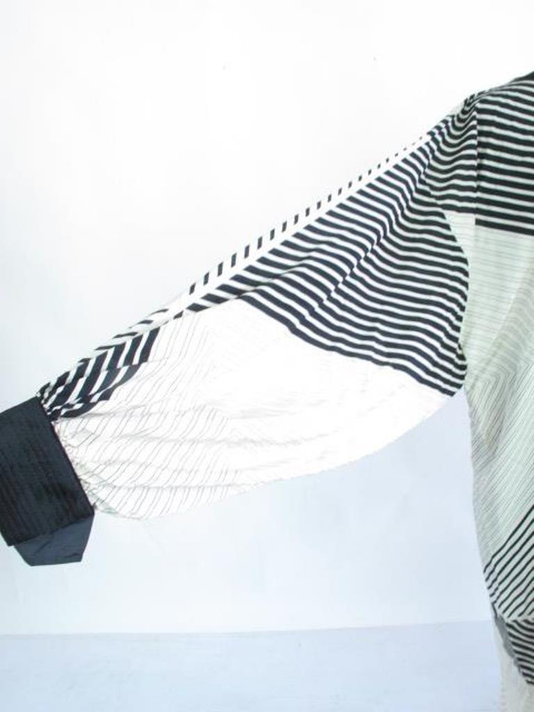 Black and White Print Dress Silk dress having overall - 2