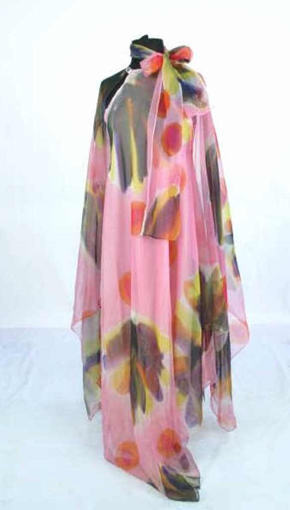 Painterly Silk Dress Silk dress having painterly design