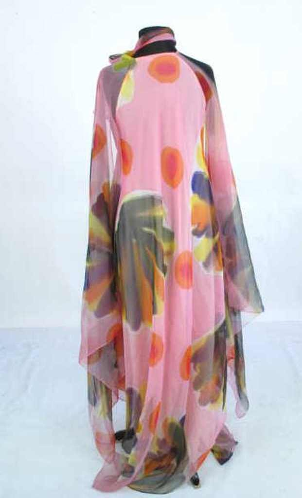 Painterly Silk Dress Silk dress having painterly design - 4