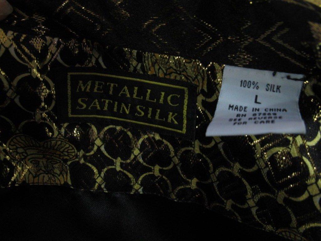 Metallic Jacket Black silk jacket having gold threaded - 5