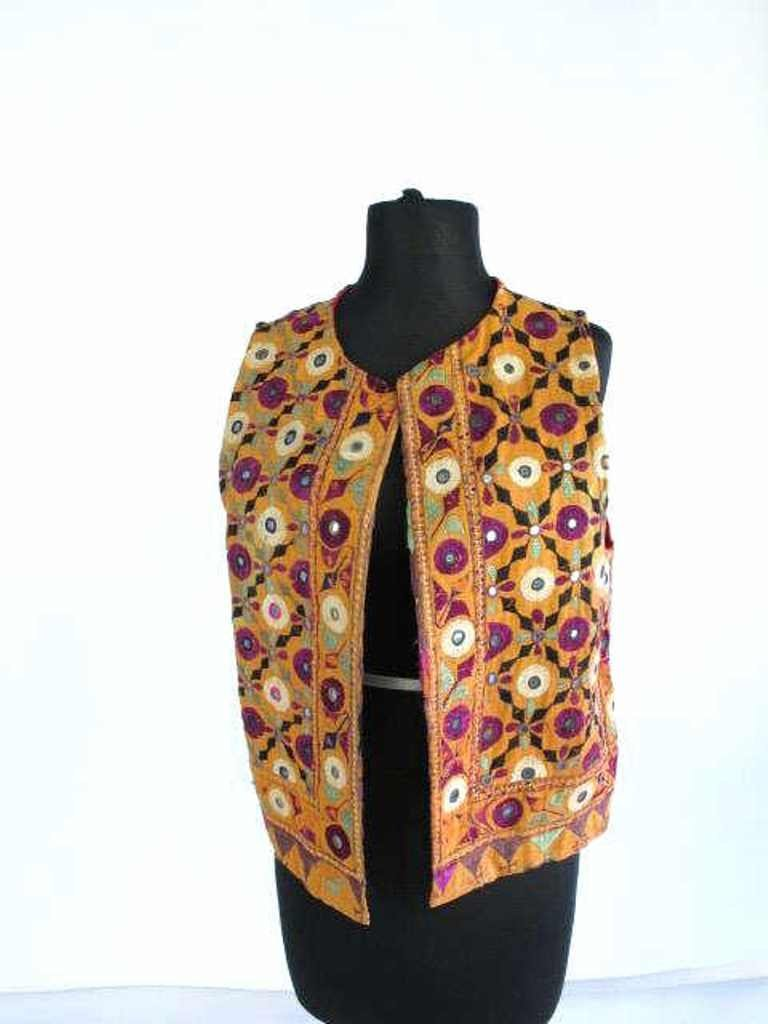 Two Embroidered Vests Two embroidered vests. One by - 2