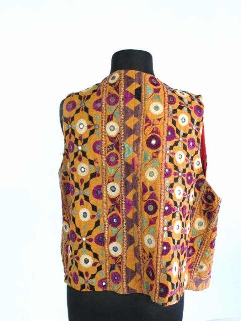 Two Embroidered Vests Two embroidered vests. One by - 4
