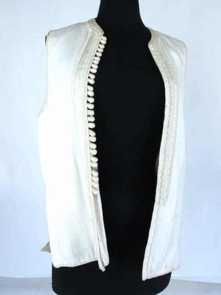 Two Embroidered Vests Two embroidered vests. One by - 6