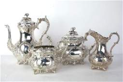 Victorian Silver Plated Tea Set Four piece tea set
