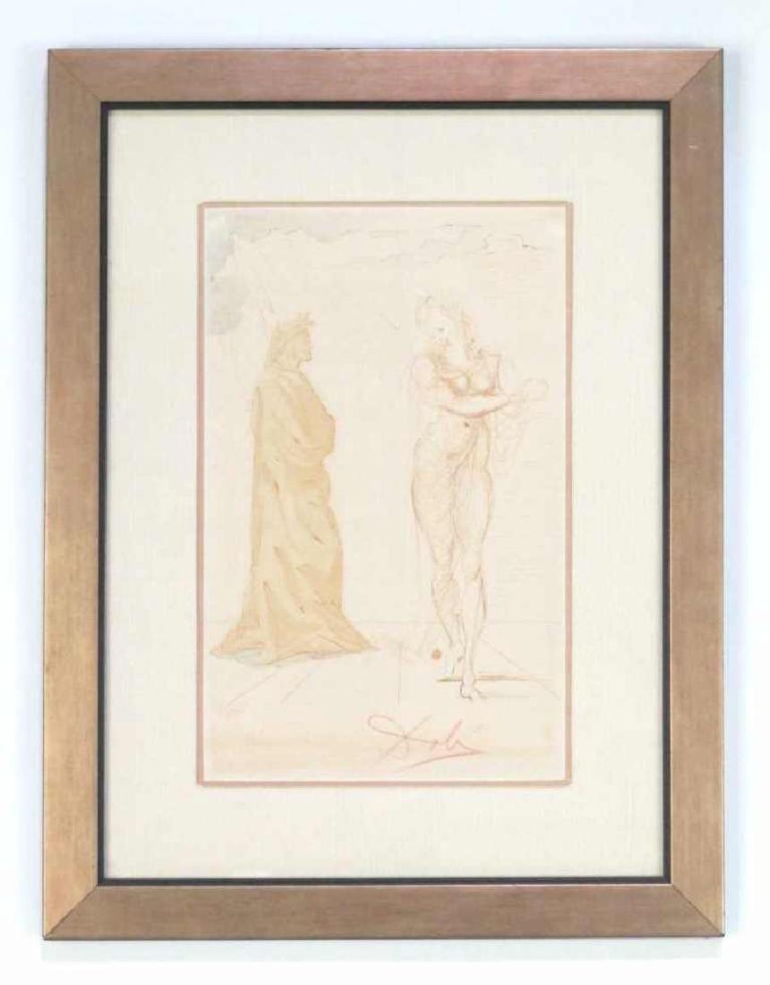 Signed Salvador Dali Print