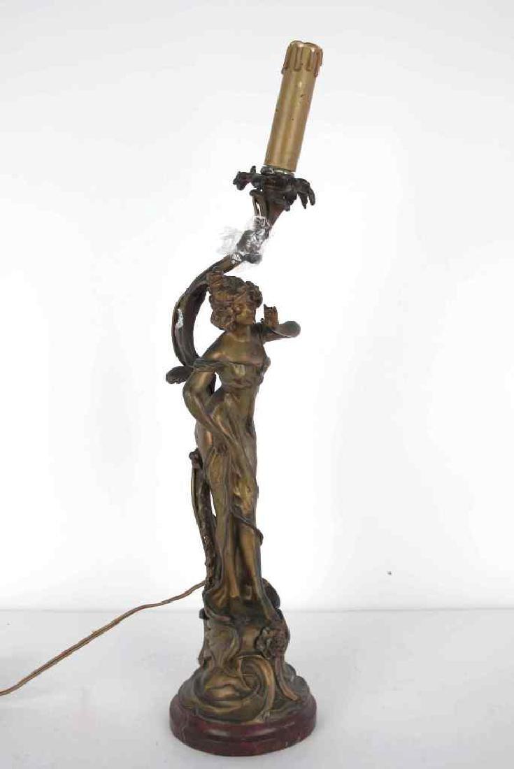 Grisard Bronze Figural Table Lamp