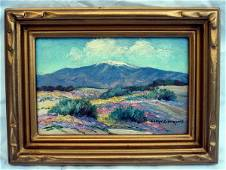 1080: Oil Painting Joane Cromwell (1895 - 1969) Desert