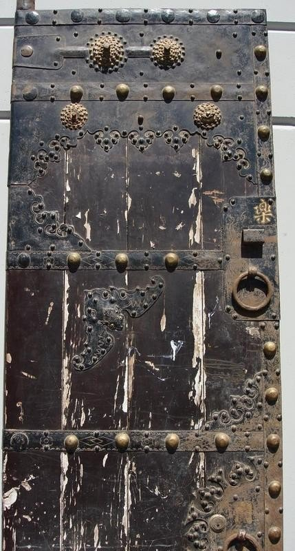 1086 Antique Chinese Doors Gates 18th C Wood Iron Huge