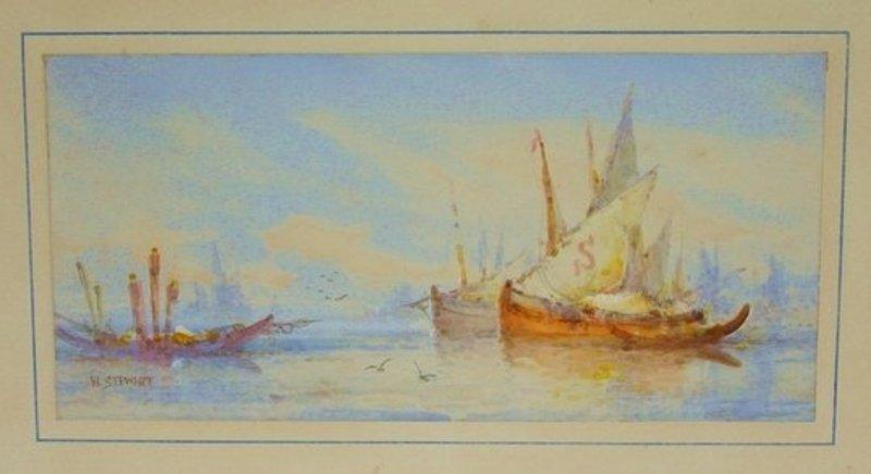 1203: Painting William Stewart (1823-1906) Venice