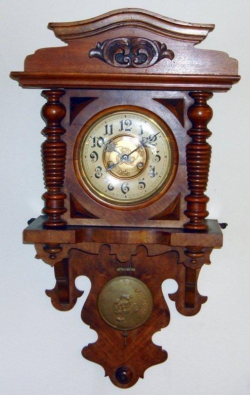 1209: Antique German Berliner Clock 19th Century