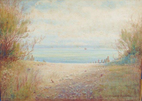 1210: Painting J. R. Goodman 1878 – 1949 English Seasca