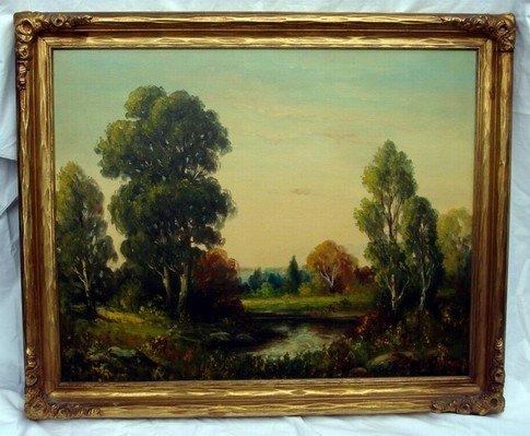 1216: Oil Painting Gilbert 1833 -1921 Landscape