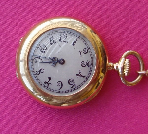 1219: Patek Philippe Watch 18k Gold Lady's Pocket