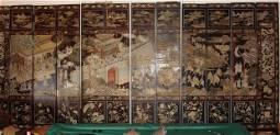1301: Antique Chinese Coromandel Screen 12 Panel 17th C