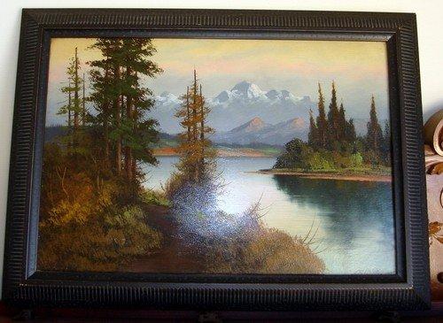 1403: Oil Painting John Delane Landscape