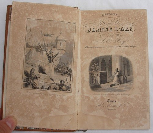 1409: Antique leather book History Joan of Arc French 1