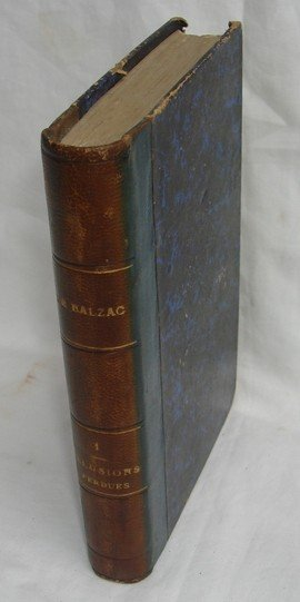 1410: Antique leather book by Balzac in French 1875