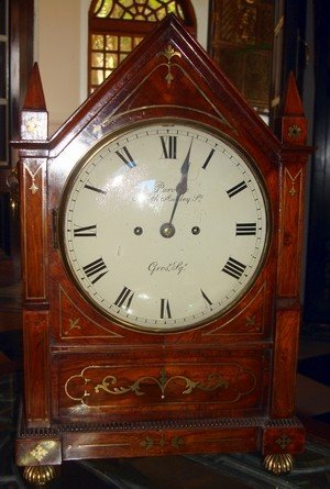 1408A: Antique English Rosewood Fusee Bracket Clock 19t