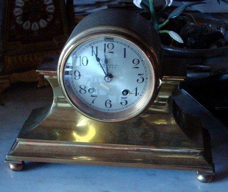 1408B: Antique Brass Chelsea Clock
