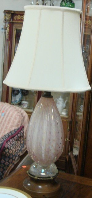 1611: Pair Venetian Murano glass lamps