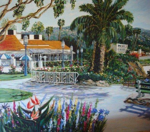 1643: Oil Painting Lavery Las Brisas Laguna Beach