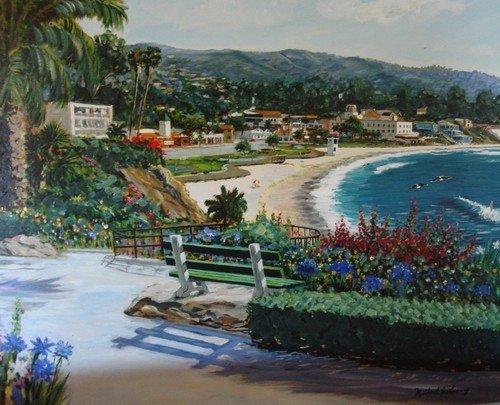 1643: Oil Painting Lavery Las Brisas Laguna Beach - 2
