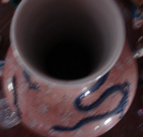 1645: Five Toed Dragon Antique Chinese Bottle Vase Sign - 4