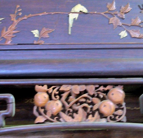 1666: Large Antique Chinese Canopy Bed Jiazichuang Qing - 7
