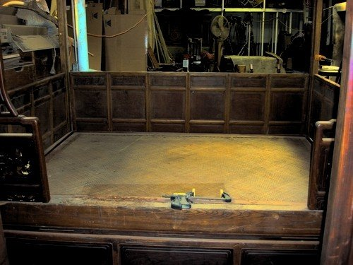 1666: Large Antique Chinese Canopy Bed Jiazichuang Qing - 8
