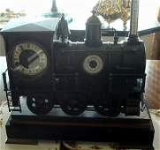 1680: Antique Railroad Industrial French Clock