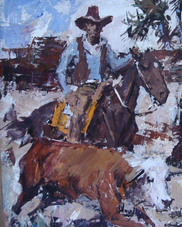 1709: Oil Painting James Lee Colt 1922 – 2005 Western - 3