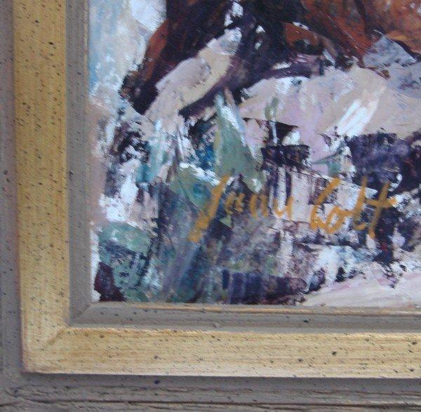 1709: Oil Painting James Lee Colt 1922 – 2005 Western - 4