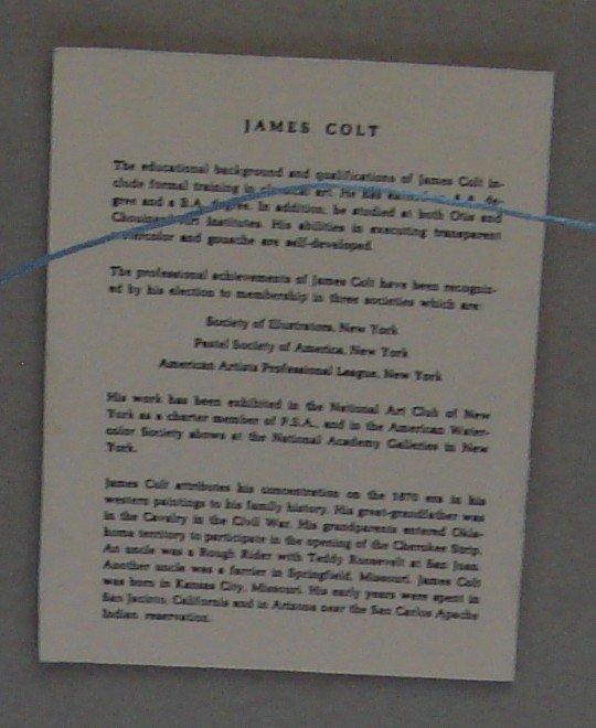 1709: Oil Painting James Lee Colt 1922 – 2005 Western - 6