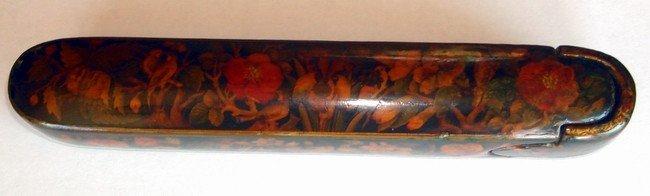 1608C: Antique Persian Qajar Qalamdan Pen Case 1800s