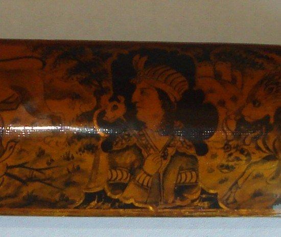 1608D: Antique Persian Qajar Qalamdan Pen Case 1800s