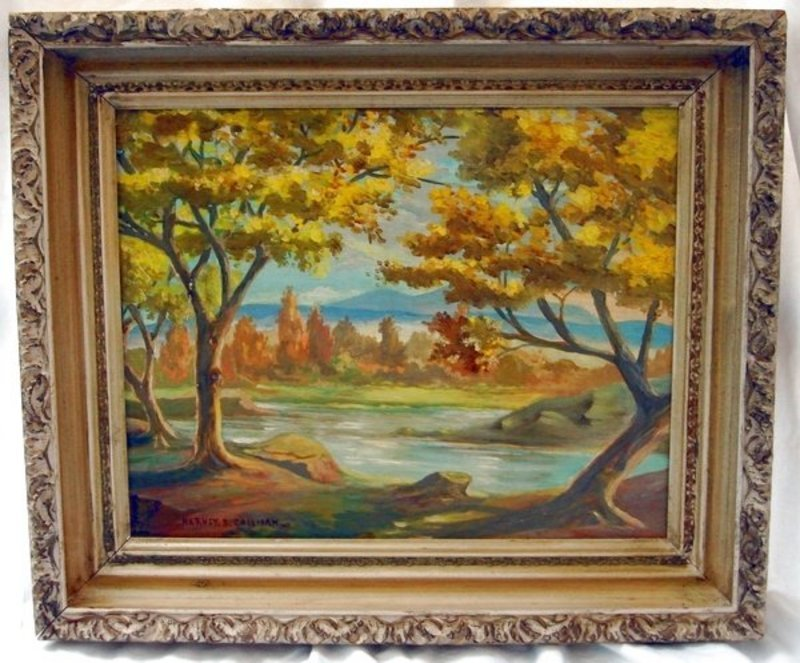 "2007: Oil Painting ""Texas Autumn"" H. B. Coleman 1884 –"