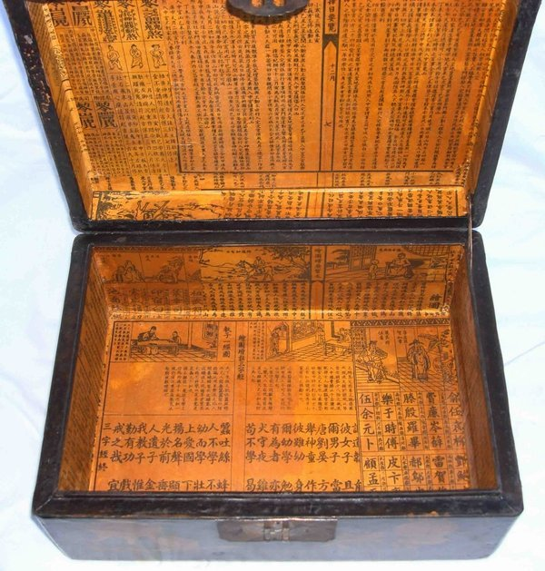 2013: Antique Chinese Lacquer Crane Box - 4