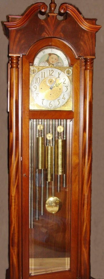2055: Antique Grandfather Clock Winterhalter & Hoffmeye