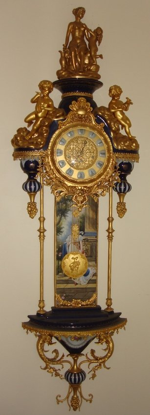2107: Gilt Porcelain Wall Clock