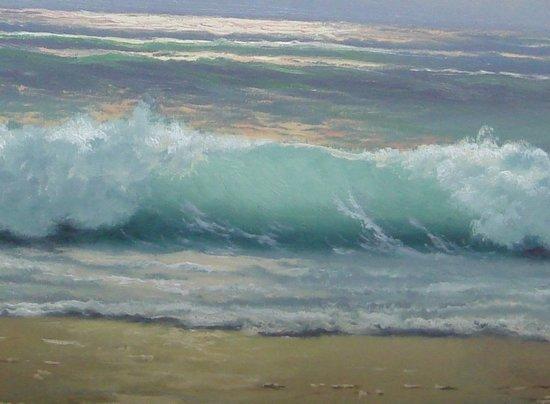 2110: Oil Painting Anton Gutknecht 1852 - 1988 Seascape - 3