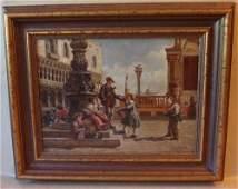 2136: Oil Painting Venice - Gregorio Ferro 18th C.