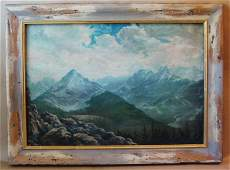 2163: Oil Painting Jack Wilkinson Smith Mountain Scape