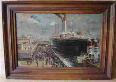 "2183: Oil Painting Jack L. Gray 1927 - 1981 ""Bon Voyage"
