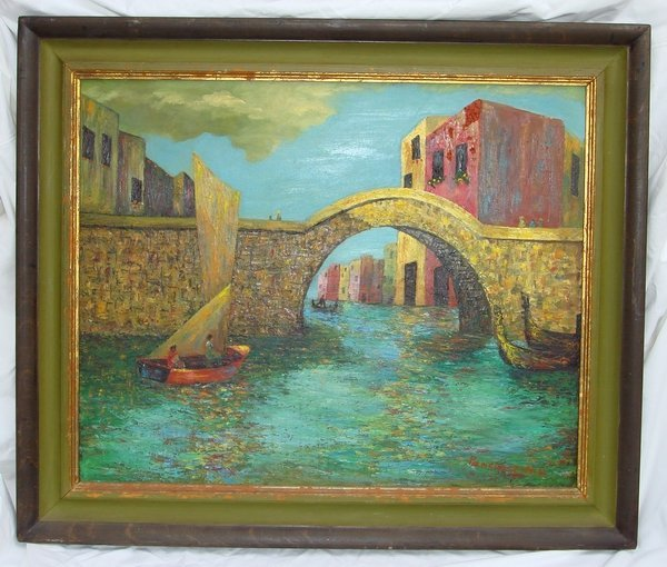 2016: Oil Painting Pancoast 1877 - 1963 Venice