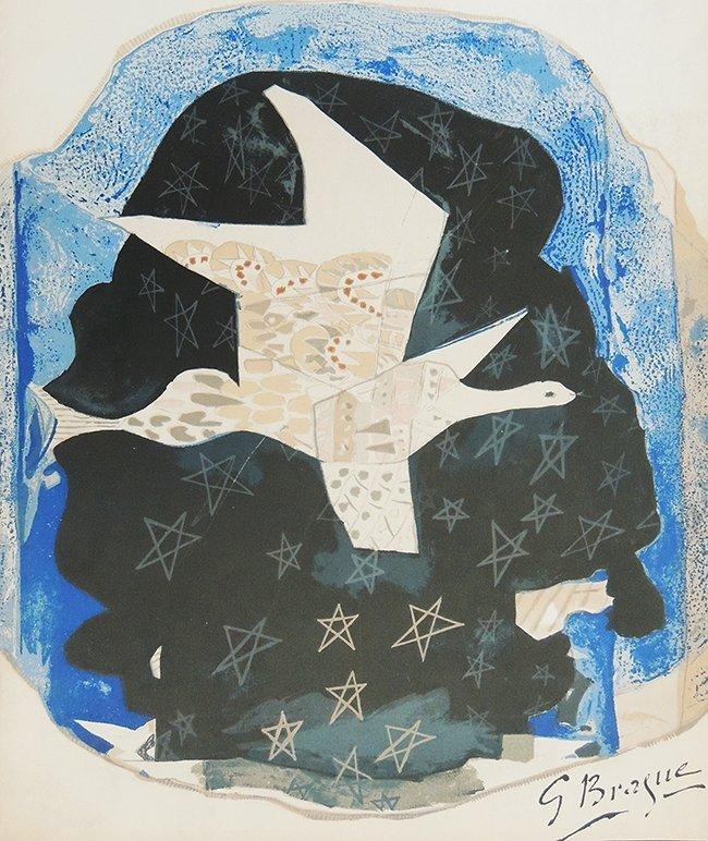 George Braque, les étoiles, original lithography in col
