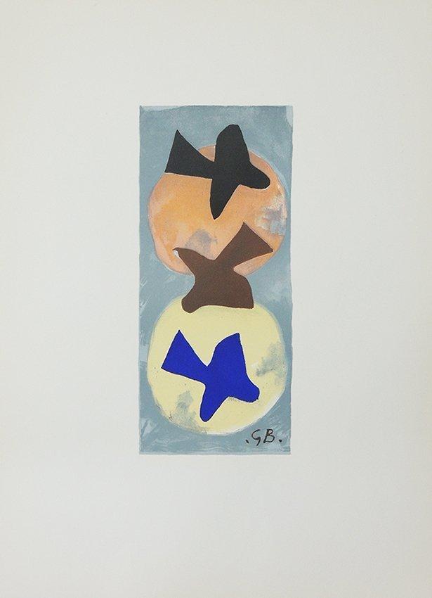 George Braque, soleil et lune, original lithography